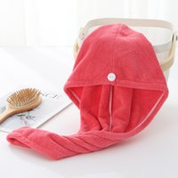 Microfiber Quick Dry Shower Hair Caps Towel Drying Wrap Womens Girls Lady's Towels QuickDry Hat Cap Turban Head Bathing Tools 1876 V2