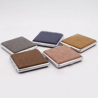 Cool Colorful Portable PU Leather Skin Cigarette Case Dry Herb Tobacco Preroll Rolling Roller Smoking Storage Stash Box Holder Protective Shell DHL Free