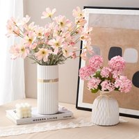 Nordic Fake Flower Suit Aesthetic Home Accessories Ceramic Vase Decor Living Room Pots Decorative Cofee Table Decoration Vases