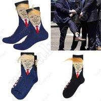 Women Men Trump Crew Socks Yellow Hair Funny Cartoon Sports Stockings Hip Hop Sock