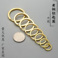 Keychain Brass key ring flat brass sp wire double