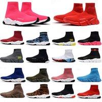 2021 Tasarımcı Çorap Spor Hızı 1.0 Rahat Ayakkabılar Eğitmenler Eğitmen Lüks Kadın Bayan Erkek Koşucular Sneakers Moda Çorap Botlar Platformu Clearsole Fluo Sneaker