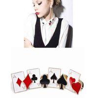 Metal Enamel Poker Clips TipsLitt le Small Brooches Cute lapel Pin  2021 Harajuku Collar Accessories Whole Broche Corsage