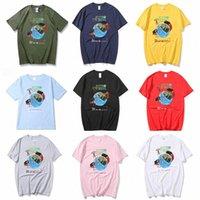 Kanye West Casual Impreso Cuello redondo Cuelguito Temporada de manga corta 5 Travis Scott Fortnite Rap Rap Hip-Hop Ins Hombre T-shirt Tops Tops de algodón puro Los hombres de los hombres G6W9 #