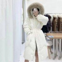 OFTBUY 2021 Winter Jacket Women 90%White Duck Down Coat Really Natural Fox Fur Collar Hoodes Warm X-Long Outerwear Streetwear