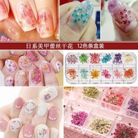 Produttori di gel per unghie all'ingrosso online celebrità gioielli fiori secchi fiori 12 colori