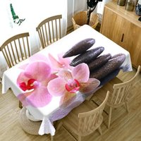 Masa örtüsü 3d renkli çiçek masa örtüsü yıkanabilir kalınlaşmak pamuk dikdörtgen ve yuvarlak düğün için özelleştirilebilir boyut