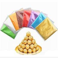 Hediye Paketi 100 adet / grup Yüksek Kaliteli Tatlılar Şeker Paketi Folyo Kağıt Çikolata Lolly Sarmalayıcıları Kare Varış
