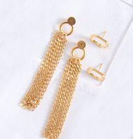 여성 파티 웨딩 애호가 선물 쥬얼리 약혼을위한 패션 Tassel 매력 귀걸이 Aretes Box HB530