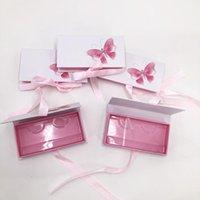 False Eyelashes Fashion Butterfly Packaging Box With Ribbon Custom Logo Empty Case 25mm Mink Lashes