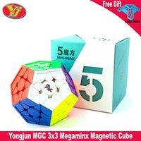 Yongjun MGC Megaminxeds 큐브 스티커리스 3x3 YJ MGC 자기 속도 큐브 3x3x3 교육 아기 키즈 퍼즐 장난감 Cubo 마술