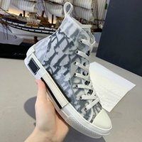 Classic Canvas Shoes B23 Uomo Sneaker 2021 Donne Casual Moda in pelle Lace Up White Shoe Top Quality Platform Lusurys Designer