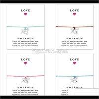 Charme Armbänder Schmuckluxus Pferd Infinity Wrap Wrap Armband mit Geschenkkarte Tier Design Wachs Seil Armreif Für Frauen Männer Mode Liebe Jewe