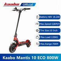 ЕС на складе Оригинал Kaabo Mantis Electric Scooter 10 ECO 800 Kickscooter Один мотор 800W 48V 18.2Ah Smart Два колеса складной скейтборд