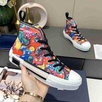 2021 B22 B23 طبعة محدودة مخصص مطبوعة قماش أحذية الأزياء متعددة الاستخدامات عالية ومنخفضة حذاء مع التعبئة والتغليف الأصلي 35-45 جميع الألوان