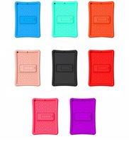 Safe Shockproof Silicone Cover Protective Sleeve Adjustable Stand for iPad 10.2 2019 2020 iPad11 2018 2020 iPad678 9.7