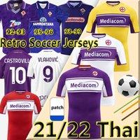2021 2022 ACF Fiorentina Soccer-Trikots Ribery Callejon Prinz Pezzella Chiesa 21/22 Vlahovic Retro 1992 93 95 96 98 99 2000 Männer Kinder Kits MAILLOT DE Football Hemden