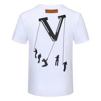 Мужские летние Поло футболка Топы Вышивка Мужчины Polos Рубашки Мода Женщины Высокая улица Повседневная Топ Tees Размер M-XXXL