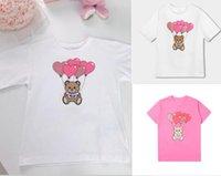 Summer T shirts For Girls Boys Bear Letter Pattern Print Baby Kids Girl Tops Children Tees Costume