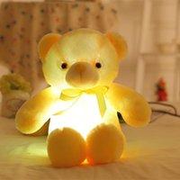 50 cm Papyon Teddy Bear Aydınlık Bebek Dahili LED Renkli Işık Fonksiyonu ile Sevgililer Günü Hediye Peluş Oyuncak