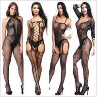 Sexy Dessous Teddies Bodysuits heiße erotische Dessous Offene Schritt Elastizität Mesh-Körper-Strümpfe-Hot-Porno-sexy Unterwäsche-Kostüme