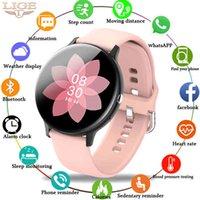 Designer luxo marca relógios lige mulher bluetooth telefone inteligente mulheres à prova d 'água esportes fitness tracker music player homens inteligentes