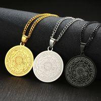 Yutong Печатная печать семи архангелов от Asterion Seal Solomon Kabbalah Amulet подвеска ожерелье из нержавеющей стали мужской ювелирный подарок