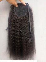 SUFAYA Full Full Head Virgin Human Virgin Remy Kinky Cordon Street Cordon de queue Pontérale Extensions de Cheveux Nortral Noir Couleur 1B Couleur 150g One Bundle