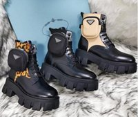 Rois Martin Stiefel Frauen Knöchel Echtes Leder Military Combat Models Plattform Bag Boot Triple Cowhide Motorrad Schuhe