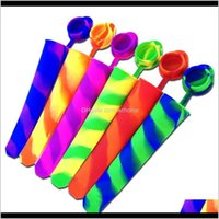 Kitchen Tools Kitchen, Dining Bar Home & Garden6 Piece Set Mix Color Siamese Molds Sile Pop Mold Makers Push Up Jelly Ice Lolly For Popsicle