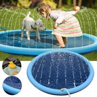 Cat Beds & Furniture Pet Sprinkler Pad Dog Pool Play Cooling Mat Swimming Inflatable Water Spray Tub Summer Cool Bathtub For Kids
