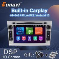 eunavi 2 DIN Android 10 자동차 DVD GPS 라디오 멀티미디어 Vauxhall Astra H G J Vectra Antara Zafira Corsa Vivaro Meriva Veda Player