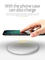 iPhone XS 최대 XR 8PPLUS USB QI 충전 SAMSUNG S10 S9 S8 S7 가장자리 노트 10 소매 상자와 함께 15W 빠른 무선 충전기