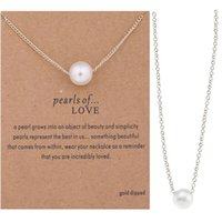 Любовь жемчужное романтическое ожерелье с коротким ожерельем
