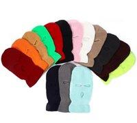 Designer Factory Wholesale Selling Winter Knitted Balaclava Skiing Windproof Women Men Full Face Hat Warm 3 Holes Ski Mask Z5W3