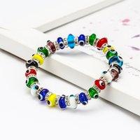 S2285 Fashion Jewelry Colorful Evil Eye Bracelet Blue Eyes Elastic Beaded Bracelets