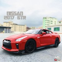 Bburago 124 Nissan GTR simulation alloy car model crafts decoration collection toy tools gift
