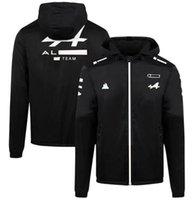 F1 ekibi yarış hoodie, 2021 hayranları için rüzgar geçirmez ve sıcak spor ceket, aynı stil özelleştirilmiş