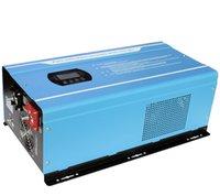 미국 창고 LCD 4KW DC48V AC120V230V 4000W 분할 위상 듀얼 출력 오프 그리드 하이브리드 순수 사인파 전력 인버터 배터리 충전기 DCAC 60Hz 지원 사용자 정의