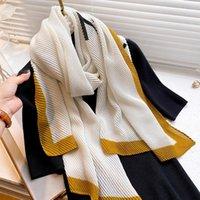 Scarves 2021 Women Warm Shawls And Wraps Fashion Silk Feeling Scarf Blanket Bufanda Ladies Pashmina Hijab Long Echarpe Foulard