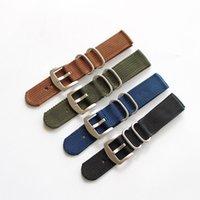 18mm 20mm 22mm 22mm Bandes de montre militaire de nylon de nylon de nylon de nylon de zoulou avec boucle en acier inoxydable pour sangle de l'OTAN