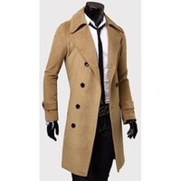 Men's Trench Coats ZOGAA Spring Autumn Long Windbreaker British Style Slim Fit Single-breasted Overcoat Solid Outerwear