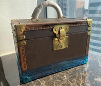 Luggage Handbags Flower Coffret 8 wristwatch cases carving Makeup Wooden Box Two Layers Bags Clutch Other styles available Travel Kit Jewelry Organizer Purse