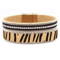 Leopard кожаный браслет для женщин богемный стиль Браслеты моды браслеты ювелирные изделия аксессуары лошади браслет браслет