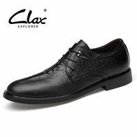 Clax Men Официальные Обувь 2019 Весна Осень Осень Человек Платье Обуви Натуральная Кожа Мужской Социальный Обувь Аллигатор Свадебная Обувь N92R #