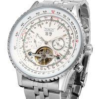 Jaragar Top Merk Mens Horloges Luxe Mannen Militaire Sport Horloge Automatische Mechanische Tourbillon Clock Relogio Masculino Horloges