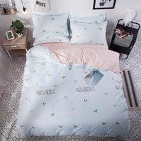 Bedding Sets Cartoon Cat Plant Digital Print Girl Boy Bedroom Decoration Down Quilt Cover Pillowcase Sheet Home Textile