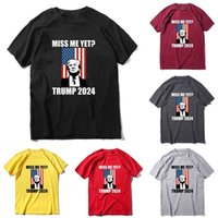 Miss Me Yet 2024 Trump Back T Shirt Unisex Women Men Designers T shirt Casual Sports Letters printing Tee Tops sweat shirt plus size outfit tracksuit top G86N1NK
