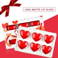 Lip Gloss 6-color Set Heart-shape Liquid Lipstick Holiday Creative Gifts Matte Velvet Glossy Lasting