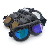 Evomosa Motorcycle Goggle WWII старинные ретро очки Pilot Biker Велоспорт Солнцезащитные очки ATV Cafe Racer Pit Bike Eywear